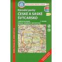 KČT 12 Národní parky České a Saské Švýcarsko 1:50 000 turistická mapa