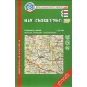 KČT 46 Havlíčkobrodsko 1:50 000 turistická mapa