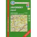 KČT 95 Javorníky západ 1:50 000 turistická mapa