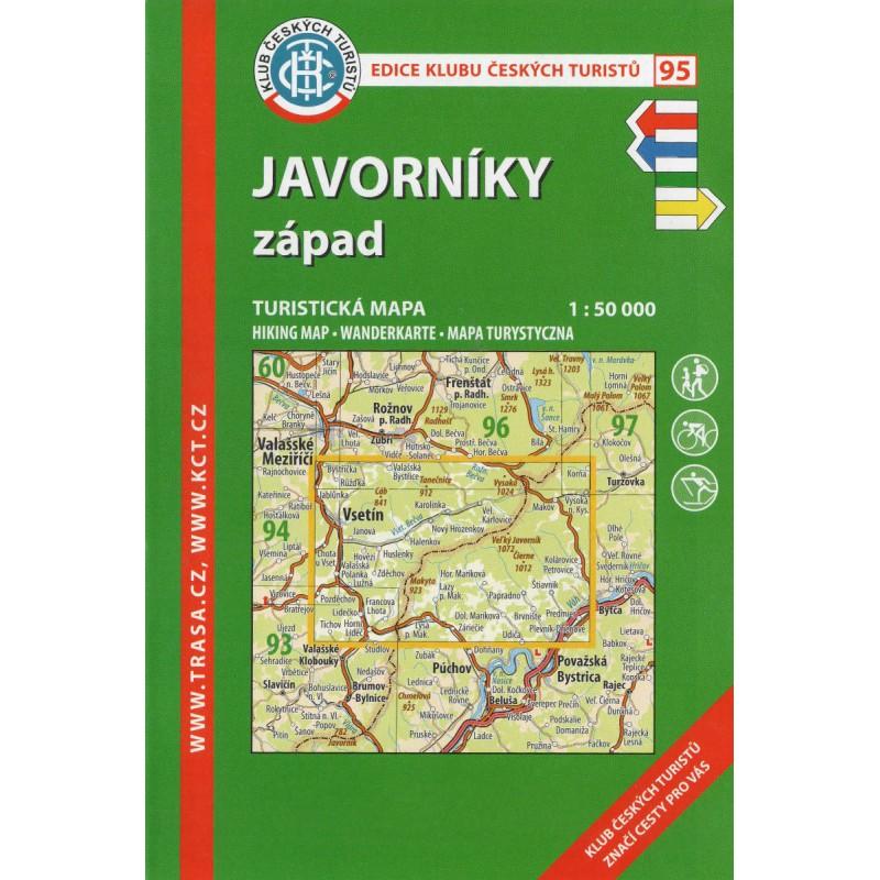 f4468a447c8 KČT 95 Javorníky západ 1 50 000 turistická mapa