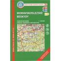 KČT 96 Moravskoslezské Beskydy 1:50 000 turistická mapa