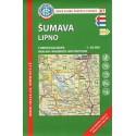 KČT 67 Šumava, Lipno 1:50 000 turistická mapa