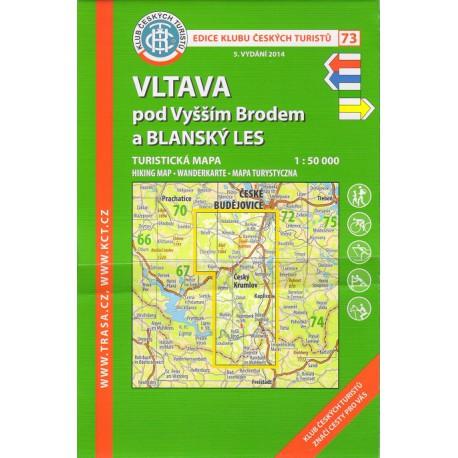 KČT 73 Vltava pod Vyšším Brodem a Blanský les 1:50 000