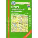 KČT 73 Vltava pod Vyšším Brodem a Blanský les 1:50 000 turistická mapa