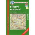 KČT 43 Střední Posázaví 1:50 000 turistická mapa