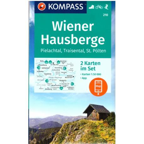 Kompass 210 Wiener Hausberge, Hohe Wand, Schneeberg, Rax 1:50 000