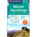 Kompass 210 Wiener Hausberge, Hohe Wand, Schneeberg, Rax 1:50 000 turistická mapa