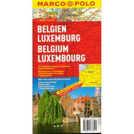 Marco Polo Belgie, Lucembursko 1:300 000 automapa