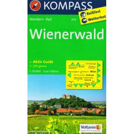 Kompass 209 Wienerwald 1:35 000