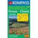 Kompass 660 Firenze, Chianti 1:50 000 turistická mapa