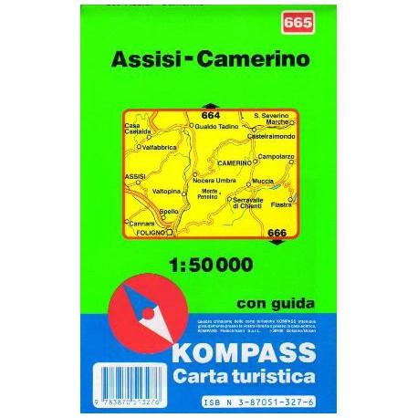 Kompass 665 Assisi, Camerino 1:50 000