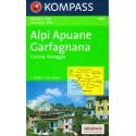 Kompass 646 Alpi Apuane, Garfagnana, Carrara, Viareggio 1:50 000 turistická mapa