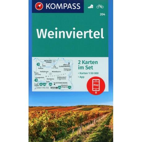 Kompass 204 Weinviertel 1:50 000
