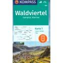 Kompass 203 Waldviertel, Kamptal, Wachau 1:50 000 turistická mapa
