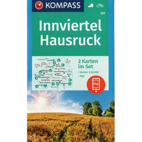 Kompass 201 Innviertel, Hausruck 1:50 000