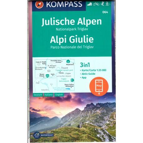 064 Julische Alpen, Triglav 1:25 000