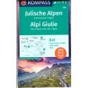 Kompass 064 Julische Alpen/Julské Alpy, Triglav 1:25 000 turistická mapa