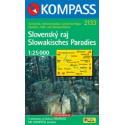 Kompass 2133 Slovenský ráj 1:25 000 turistická mapa