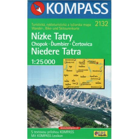 Kompass 2132 Nízké Tatry 1:25 000