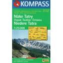 Kompass 2132 Nízké Tatry 1:25 000 turistická mapa