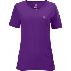 Salomon Stroll Logo Tee W anemone purple 329009 dámské triko krátký rukáv