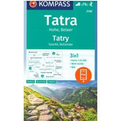 Kompass 2130 Tatry Vysoké, Belianske 1:25 000 turistická mapa