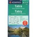 Kompass 2100 Tatry Vysoké, Západné, Belianske 1:50 000 turistická mapa