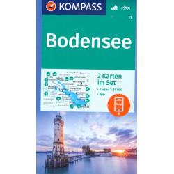 Kompass 11 Bodensee/Bodamské jezero 1:35 000