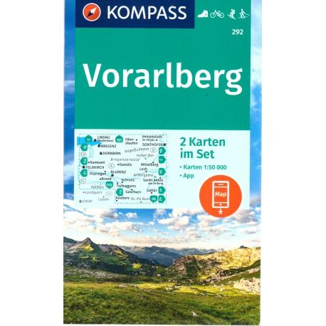 Kompass 292 Vorarlberg 1:50 000