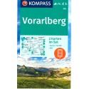 Kompass 292 Vorarlberg 1:50 000 turistická mapa