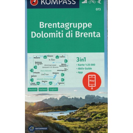 Kompass 073 Dolomiti di Brenta 1:25 000
