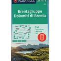 Kompass 073 Dolomiti di Brenta 1:25 000 turistická mapa