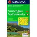 Kompass 52 Vinschgau/Val Venosta 1:50 000 turistická mapa