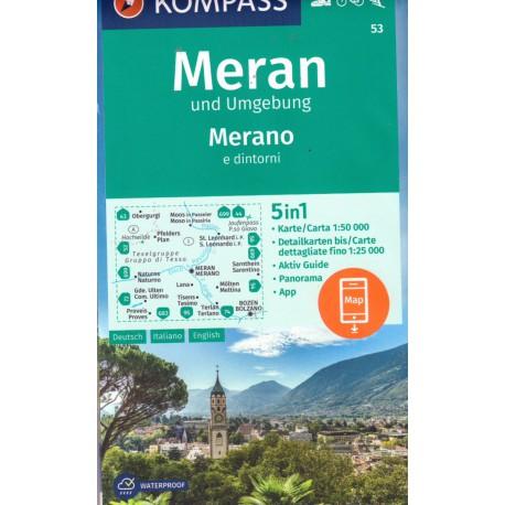 Kompass 53 Meran/Merano a okolí 1:50 000