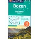 Kompass 54 Bozen/Bolzano 1:50 000 turistická mapa
