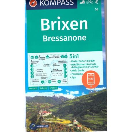 Kompass 56 Brixen/Bressanone 1:50 000