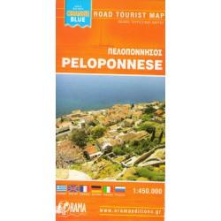 ORAMA Peloponnese/Peloponés 1:450 000