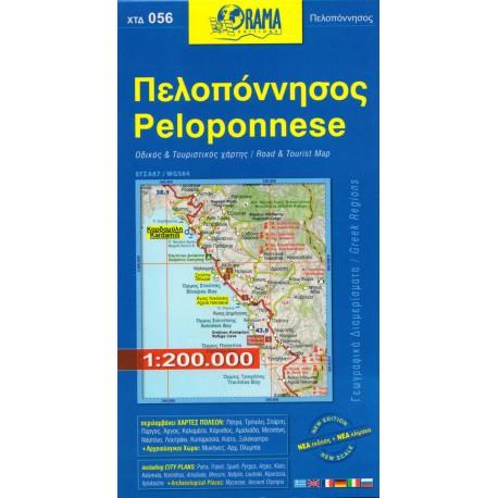 ORAMA 056 Peloponnese/Peloponés 1:200 000