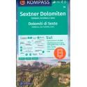 Kompass 58 Sextner Dolomiten/Dolomiti di Sesto 1:50 000 turistická mapa