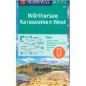 Kompass 61 Wörthersee, Karawanken západ 1:50 000 turistická mapa