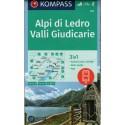 Kompass 071 Alpi di Ledro, Valli Giudicarie 1:50 000 turistická mapa