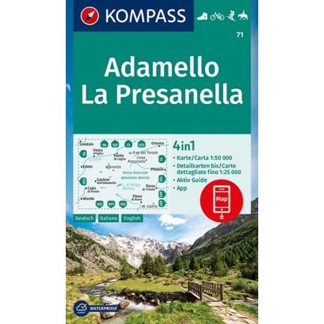 Kompass 71 Adamello, La Presanella 1:50 000