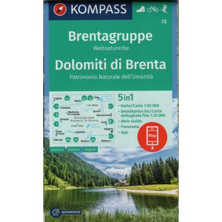 73 Dolomiti di Brenta 1:50 000