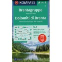 Kompass 73 Dolomiti di Brenta 1:50 000 turistická mapa