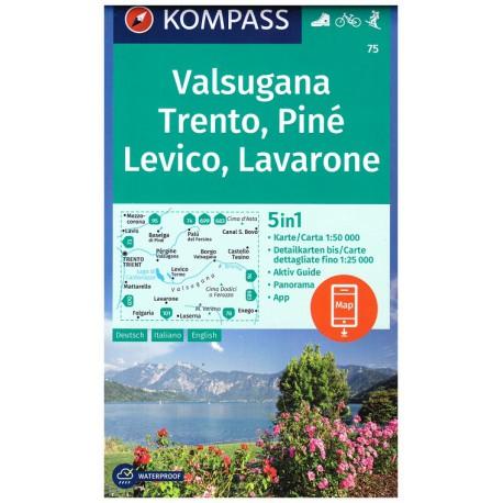 Kompass 75 Trento, Lévico, Lavarone 1:50 000