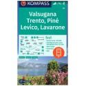 Kompass 75 Trento, Lévico, Lavarone 1:50 000 turistická mapa
