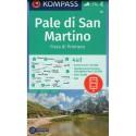 Kompass 76 Pale di San Martino 1:50 000 turistická mapa