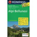 Kompass 77 Alpi Bellunesi 1:50 000 turistická mapa