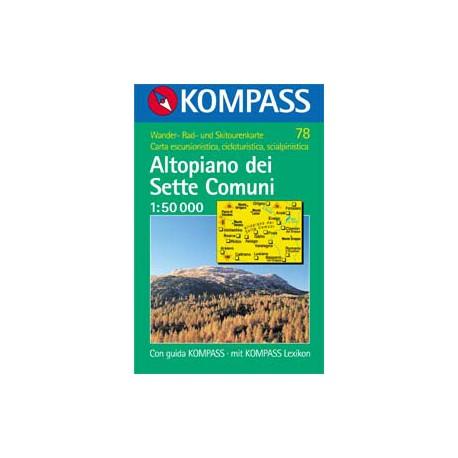 Kompass 78 Altopiano dei Sette Comuni 1:50 000
