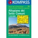 Kompass 78 Altopiano dei Sette Comuni 1:50 000 turistická mapa